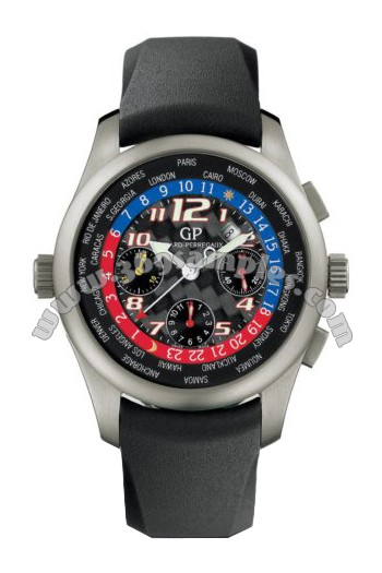 Girard-Perregaux World Timer WW.TC Chronograph Mens Wristwatch 49800.0.21.6656A