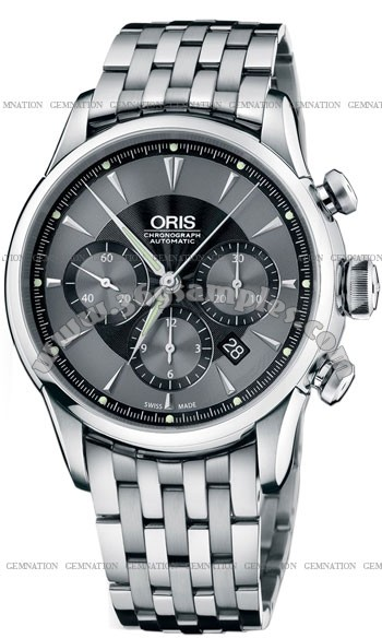 Oris Artelier Chronograph Mens Wristwatch 676.7603.4054.MB