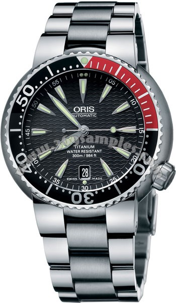 Oris TT1 Divers Titan Date Mens Wristwatch 733.7562.71.54.MB