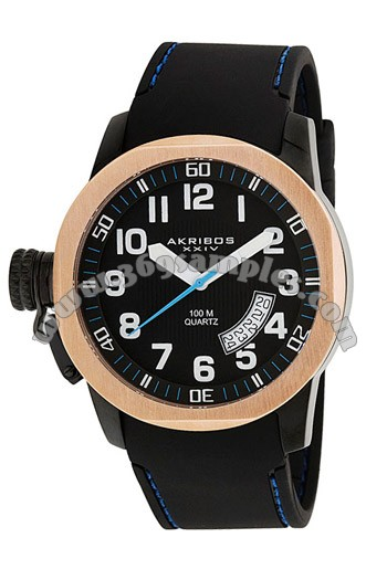 Akribos XXIV Canteen Top Mens Wristwatch AK423BK