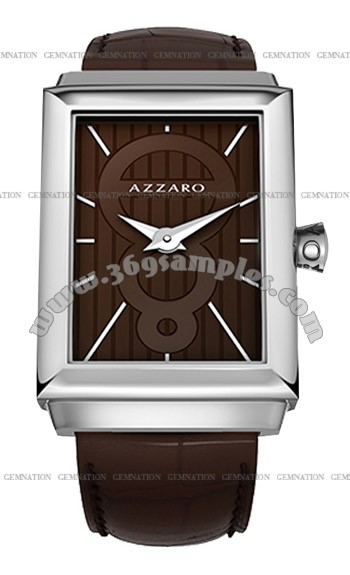 Azzaro Legend Rectangular 2 Hands Mens Wristwatch AZ2061.12HH.000