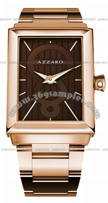 Azzaro Legend Rectangular 2 Hands Mens Wristwatch AZ2061.52HM.000