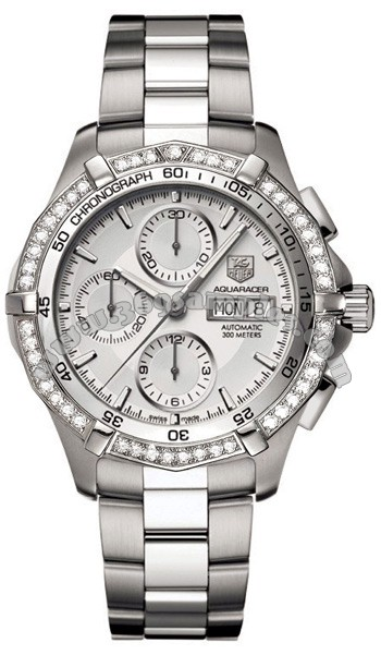 Tag Heuer Aquaracer Automatic Diamonds Mens Wristwatch CAF2015.BA0815