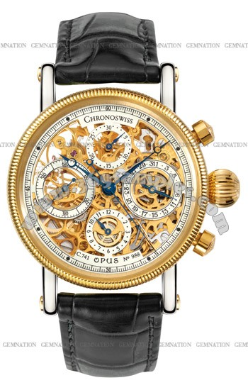 Chronoswiss Opus Skeleton Chronograph Mens Wristwatch CH7522S