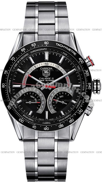 Tag Heuer Carrera Calibre S Electro-Mechanical Lap timer Mens Wristwatch CV7A10.BA0795