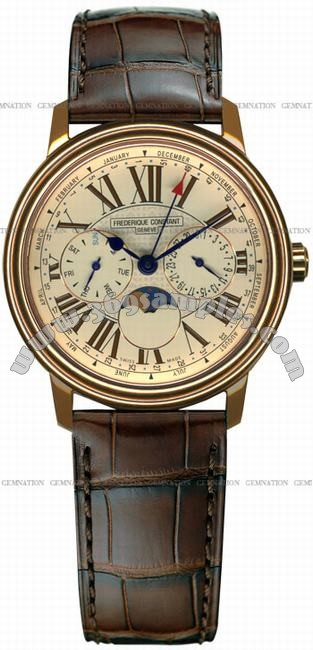 Frederique Constant Business Timer Mens Wristwatch FC-270EM3P4