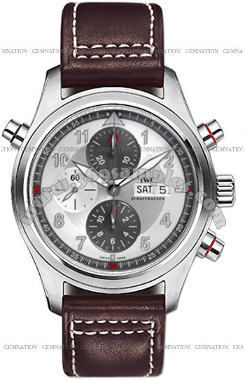 IWC Pilots Double Chronograph Mens Wristwatch IW371802