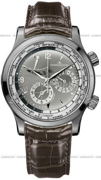 Jaeger-LeCoultre Master World Geographic Mens Wristwatch Q152T440