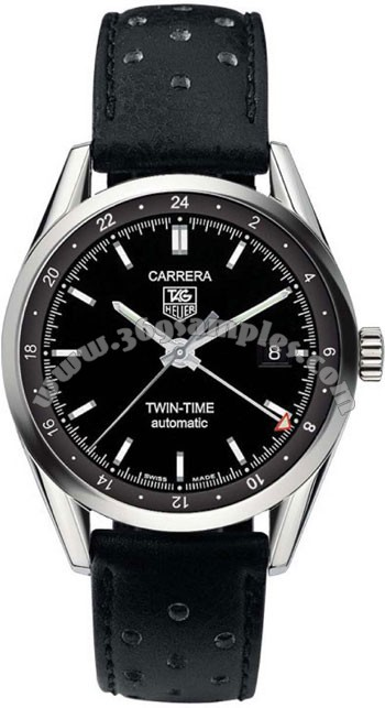 Tag Heuer Carrera Twin Time Mens Wristwatch WV2115.FC6182