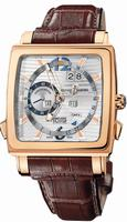 Replica Ulysse Nardin Quadrato Dual Time Perpetual Mens Wristwatch 326-90.91