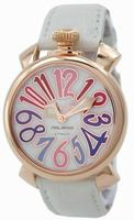 Replica GaGa Milano Manual 40mm Gold Plated Unisex Wristwatch 5021.1.WH