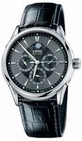 Replica Oris Artelier GMT Mens Wristwatch 581.7592.40.54.LS