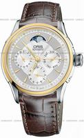 Replica Oris Artelier Complication Mens Wristwatch 581.7606.4351.LS