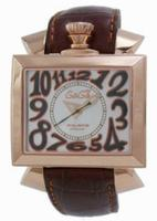 Replica GaGa Milano Napoleone Gold Plated Men Wristwatch 6001.3.BR