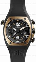 Replica Bell & Ross BR 02-94 Chronographe Pink Gold & Carbon Mens Wristwatch BR02-CHR-BICOLOR