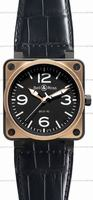 Replica Bell & Ross BR 01-92 Pink Gold & Carbon Mens Wristwatch BR0192-BICOLOR