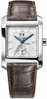 Replica Baume & Mercier Hampton Square Dual Time Mens Wristwatch MOA08752