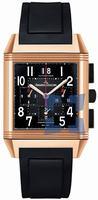 Replica Jaeger-LeCoultre Reverso Squadra Chronograph GMT Black Mens Wristwatch Q7012672