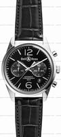 Replica Bell & Ross BR 126 Officer Mens Wristwatch BRG126-BL-ST/SCR