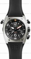 Replica Bell & Ross BR 02-94 Chronographe Steel Mens Wristwatch BR02-CHR-BL-ST