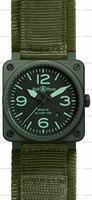 Replica Bell & Ross BR 03-92 Military Ceramic Mens Wristwatch BR0392-CERAM-MIL