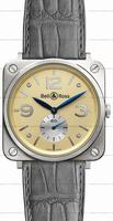 Replica Bell & Ross BR S Mecanique White Gold Unisex Wristwatch BRS-WHGOLD-IVORY_D