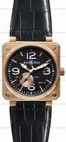 Replica Bell & Ross BR 01-97 Reserve de marche Pink Gold Mens Wristwatch BR0197-PINKGOLD